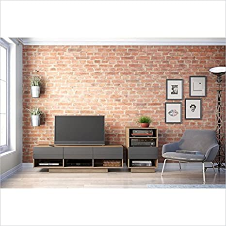 Radar 60-inch TV Stand with 1 Audio Tower