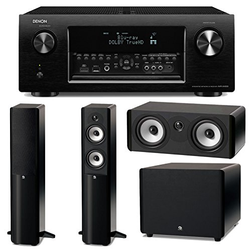 Denon Avr-X4000 7.2-Channel 4K Ultra Hd Networking Home Theater Receiver Plus A Boston Acoustics A-Series Home Theater Speaker Package! (A250, A225C & Asw250)
