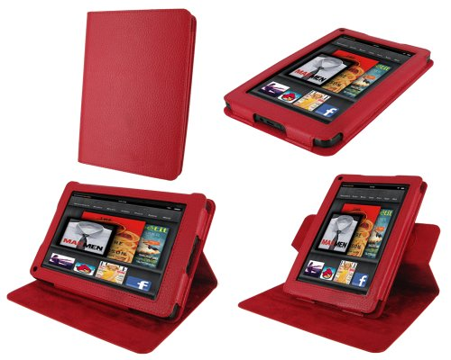 rooCASE Dual-View Multi Angle (Red) Folio Case
