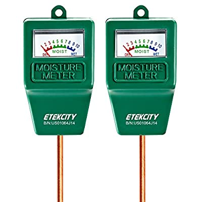 Etekcity Indoor/Outdoor Soil Moisture Sensor Meter, Plant Care Hygrometer (2 Pack)