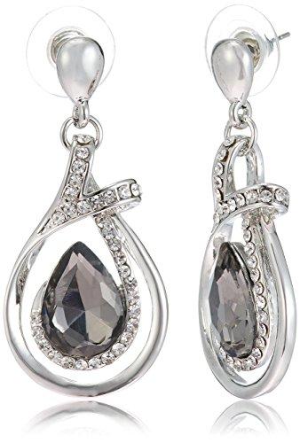 NewU Silver Plated Designer Dangle Earrings