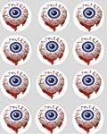 12 Blood Eyes Halloween rice paper fa...
