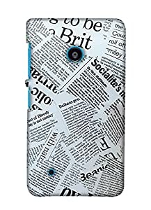 Print Haat Back Case for Lumia 530 (Multi-Color)