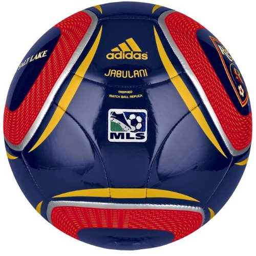 Adidas WC10 Tropheo Real Salt Lake Soccer Ball, Night Sky/Poppy/Sunshine, 5