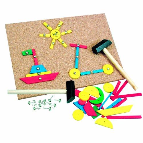 Bino 82188 - Juego creativo con corcho y martillo, 229 piezas [importado de Alemania]