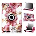 SPARIN Apple iPad Air Case - PU Leather Case Cover with Auto Sleep / Wake Feature for iPad Air / iPad 5 (5th Generation), 360 lucky flower