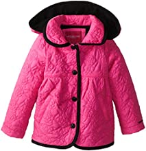 London Fog Little Girl39s Rose Quilted Midweight Jacket