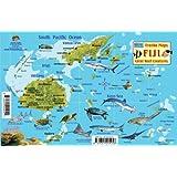 Fiji Map & Reef Creatures Guide Franko Maps Laminated Fish Card