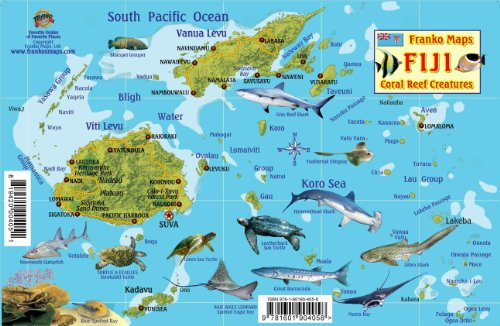Fiji map reef creatures guide franko maps laminated fish card fiji map reef creatures guide franko maps laminated fish card malaysia online bookstore gumiabroncs Gallery