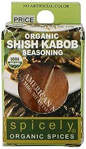 Spicely Organic Seasoning, Shish Kabob Salt Free - Compact