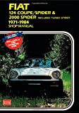 Fiat 124 Coupe/Spider & 2000 includes Turbo Spider 1971-1984 Shop Manual