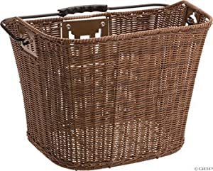 BASKET AXIOM FRONT FAUX WICKER QR BROWN