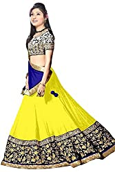 Vibes Womens 60gm Georgette Unstitched Lehenga Choli (L12 18007_Yellow)