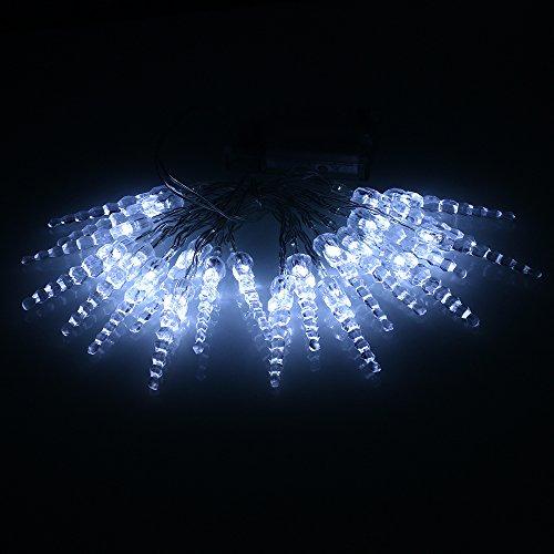 Eiszapfen 20 LED Fee Lichterketten, Weihnachten Schmuck, 2m 6.56 Ft. , Batteriebetrieben,Ehe ,Gardens, Rasenflächen, Patio, innere (kaltweiss)
