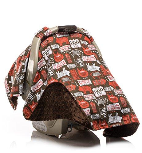 Elonka Nichole Baby Boy Car Seat Canopy, BBQ Pig