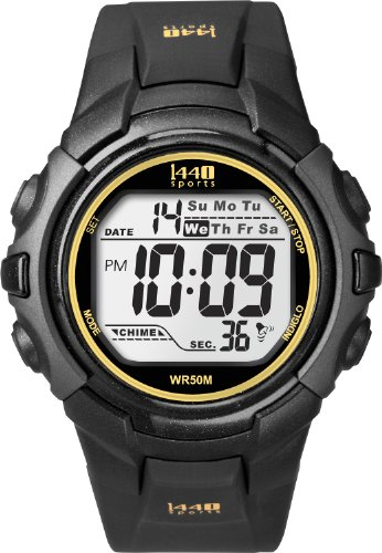 Timex Men's T5K457 1440 Sports Digital Black Resin Strap Watch