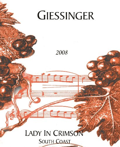 2008 Giessinger Lady In Crimson Dessert Red 750 Ml