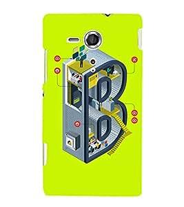 EPICCASE Complex B Mobile Back Case Cover For Sony Xperia SP (Designer Case)