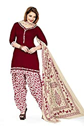 RK Fashion Womens Cotton Un-Stitched Salwar Suit Dupatta Material ( VARIETY-GANPATI-SUPRIYA-218-Brown-Free Size)