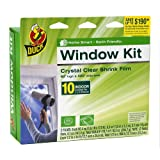 Duck Brand 281506 Indoor 10-Window Shrink Film Insulator Kit, 62-Inch by 420-Inch