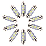 Sanheshun 10pcs 12V 36MM 3 LED 5050 SMD Festoon Dome Car Light Interior Lamp Bulb White