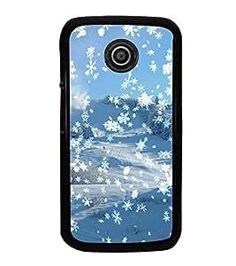 Fuson Premium 2D Back Case Cover Snow fall With grey Background Degined For Motorola Moto E XT1021::Motorola Moto E (1st Gen)