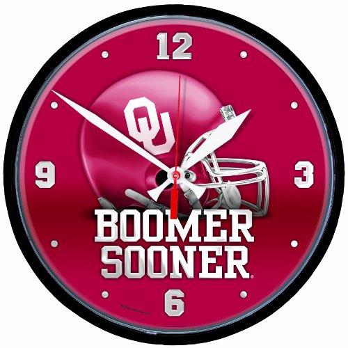 NCAA Oklahoma Sooners 12 inch Round Clock