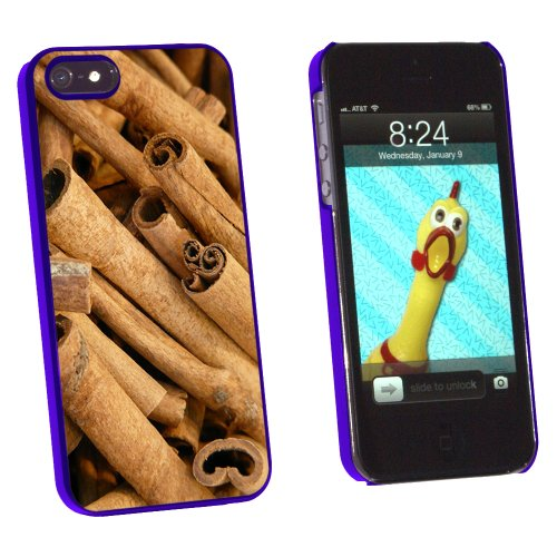 Cinnamon Sticks - Dried Brown Spice - Snap On Hard Protective Case for Apple iPhone 5 5S - Blue
