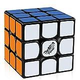 D-FantiX Qiyi Valk 3 Power 3x3 Speed Cube 3x3x3 Magic Cube Puzzle Black (Color: Black, Tamaño: 55.5mm)