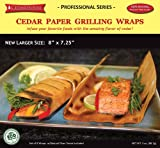 "CedarHouse Ultra-Premium Cedar Paper Grilling Wraps - LARGE 8""x7.25"" Professional Series - 8 papers/pack"