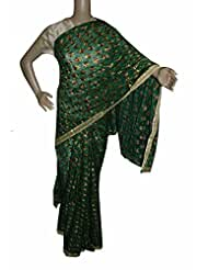 Beautiful RUDA Designer Phulkari Embroidered Saree-JS1091