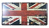 FLY SPRAY Uk British Flag Decorative Signs Tin Metal Iron Sign Painting For Wall Home Office Bar Coffee Shop