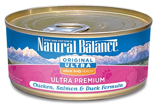 Natural Balance Original Ultra Whole Body Health Chicken, Salmon & Duck Formula Wet Cat Food, 6-Ounce Can (Pack of 24) (Natural Balance Canned compare prices)