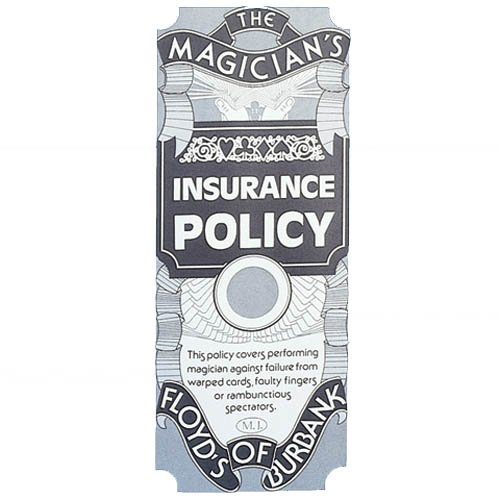 Loftus International Floyds of Burbank Magician's Insurance Policy Trick