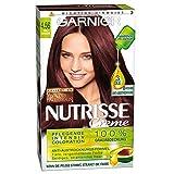 Garnier Nutrisse Creme Coloration Edel Mahagoni 4.56 / Färbung für Haare für permanente Haarfarbe (mit 3 nährenden Ölen) - 3 x 1 Stück