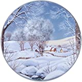 Range Kleen Hallmark Holiday Design Set of Four Burner Kovers, Winter Scene