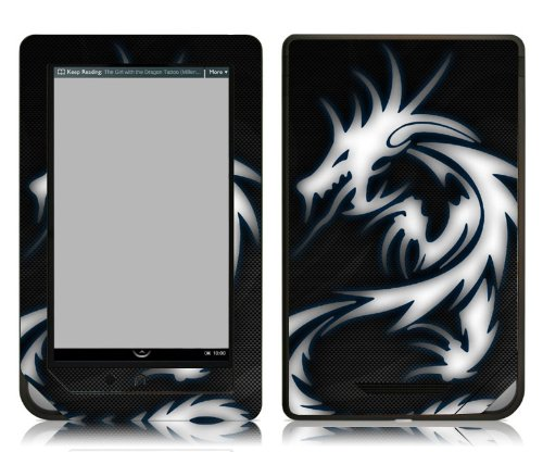 Bundle Monster Barnes & Noble Nook Color (NookColor) Ebook Vinyl Skin Cover Art Decal Sticker Protector Accessories - Blue Dragon