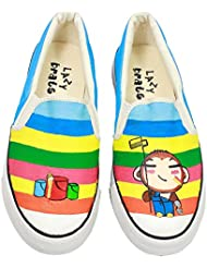 """LazyBrats Painter Kid Hand Painted Customised Casual Slipon Shoes """"with FREE LOAFER SOCKS"""""""