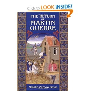 book review about the return of martin guerre The return of martin guerre documents  on the point of winning his trial the real martin guerre appeared this review  it was the subject of a book by one.