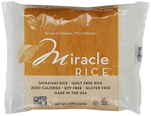 Miracle Noodle Zero Carb, Gluten Free Shirataki Rice, 8-Ounce (Pack of 6) (Slim Rice compare prices)