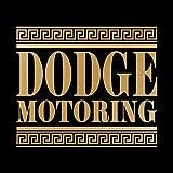 ダッジ モータリング ステッカー ゴールド 金