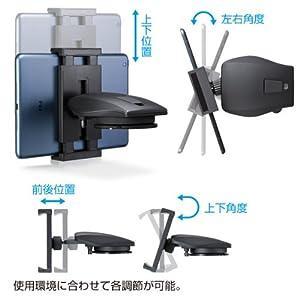 SANWA SUPPLY 7インチタブレット用車載ホルダー(オンダッシュタイプ) CAR-HLD6BK