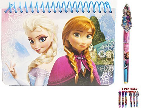 Disney Frozen Elsa and Anna Spiral Autograph Book and 1 Pen