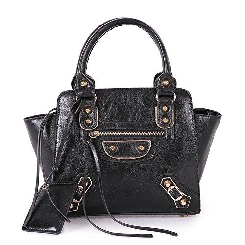 Fashion Pu Leather Clutch Cross-Body Shoulder Handbag 0351165 (Black)
