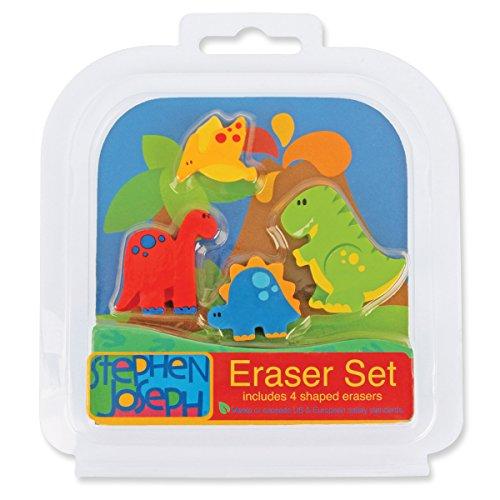 Stephen Joseph Eraser Set-Dino