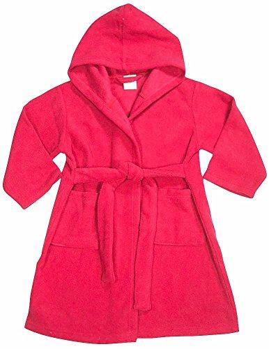 Pegasus - Baby Girls Hooded Fleece Robe, Raspberry 32888-9-12Months