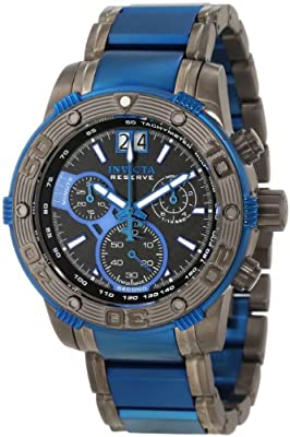 Invicta Men's 10593 Ocean Reef Reserve Chronograph Black Carbon Fiber Dial Watch