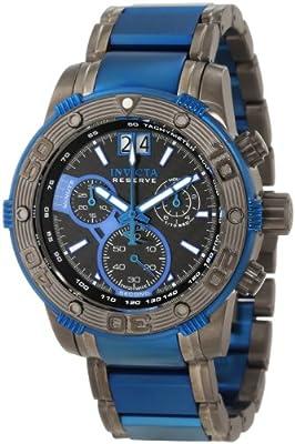 Invicta Men's 10593 Ocean Reef Reserve Chronograph Black Carbon Fiber Dial Watch from Invicta