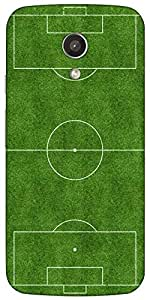 Snoogg Football Field Case Cover For Motorola G / Moto G 2Nd Generation
