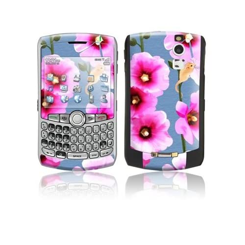 Tasty Pink Bits Design Protective Skin Decal Sticker for Blackberry Curve 8300/ 8310/ 8320 Cell Phones